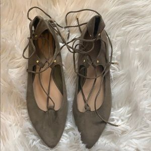 NWT Old Navy Lace Up Pointed Toe Flats